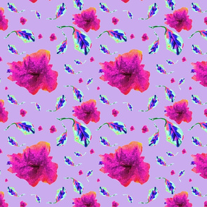 azalea pink hibiscus