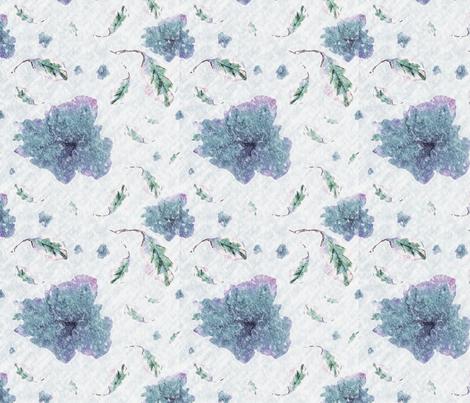 azalea winter fabric by 1957_art on Spoonflower - custom fabric