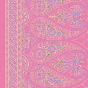 """54"""" Double-Edged Pink Sari Saree"""