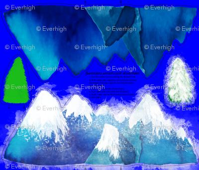 Seasonal watercolor mountains