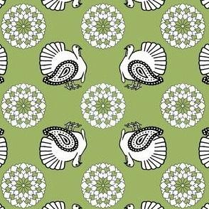 Turkey Polka Kerchief in Leaf | Cider Apple
