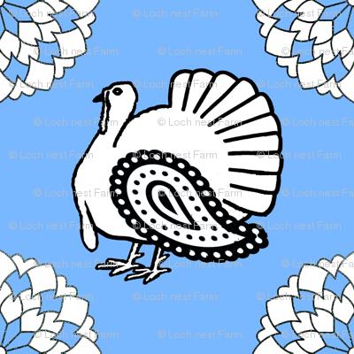 Turkey Polka Kerchief on Sky | Forager's Brights