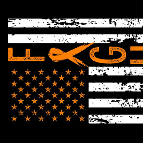 Fight//Lukemia/Kidney Cancer//US Flag - 1 Yard Lay out (Minky)
