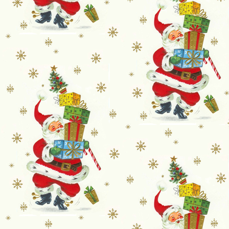 Santa packages fabric by parisbebe on Spoonflower - custom fabric