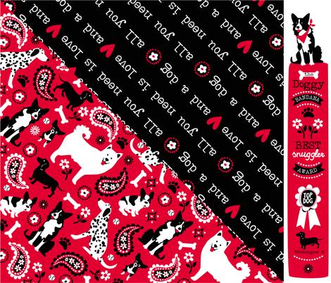DOGGY BANDANA fabric by bzbdesigner on Spoonflower - custom fabric