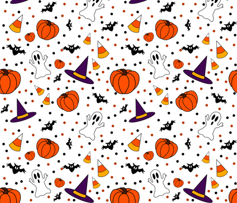 Halloween Pattern fabric by lanrete58 on Spoonflower - custom fabric