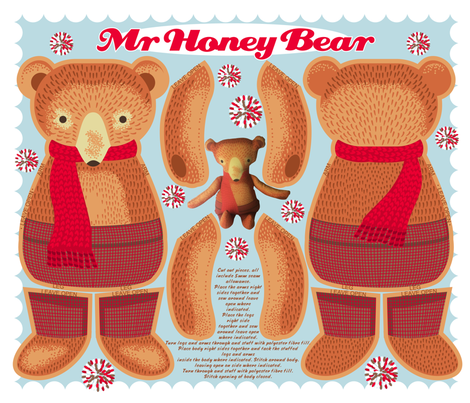Mr Honey Bear fabric by cjldesigns on Spoonflower - custom fabric