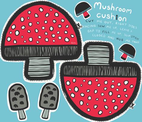 Mushroom cushion fabric by ruth_robson on Spoonflower - custom fabric