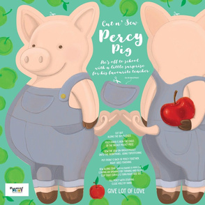 Percy Pig - Cut and Sew Cuddly 21 x 18inch