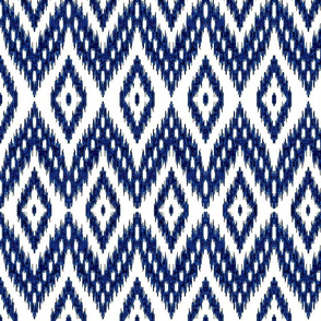 ikat navy blue