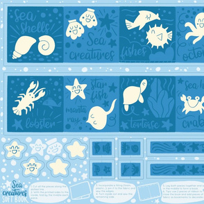 Sea creatures soft book