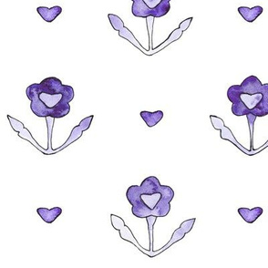 Vintage lovely floral pattern in purple