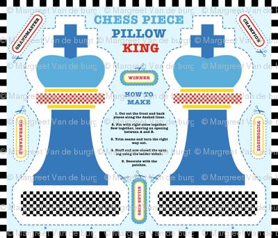 Chess King Cut & Sew Pillow