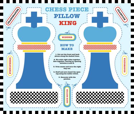 Chess King Cut & Sew Pillow fabric by pinkdeer on Spoonflower - custom fabric