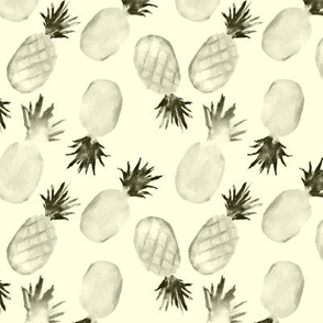 Retro pineapples || vintage monochrome design for kitchen, apparel