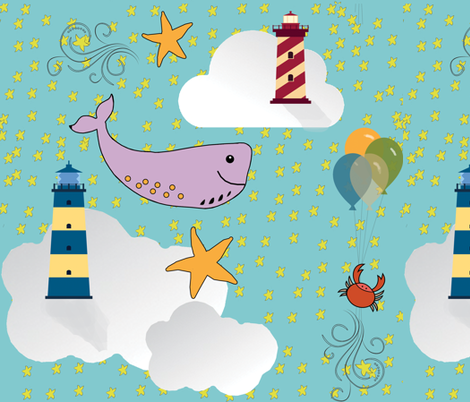 Skies Ahoy fabric by lkm3s on Spoonflower - custom fabric