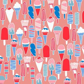 pink icecreams a plenty