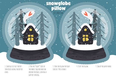 Snowglobe Pillow fabric by anastasiia_macaluso on Spoonflower - custom fabric