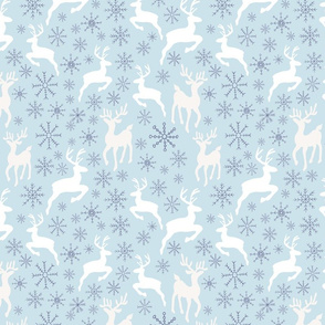 Sky Blue Reindeer Sparkles