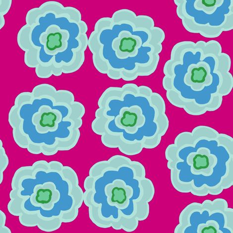 flower button custom color fabric by luna_bella on Spoonflower - custom fabric
