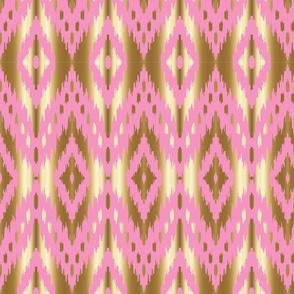 pink gold ikat