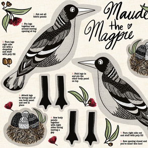 Maude the Magpie cut and sew