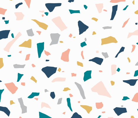 Neutral Terrazzo fabric by emmbee-design on Spoonflower - custom fabric
