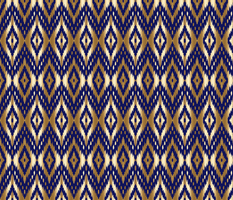 navy gold ikat navy and gold  fabric by jenlats on Spoonflower - custom fabric
