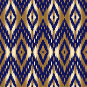 navy gold ikat navy and gold