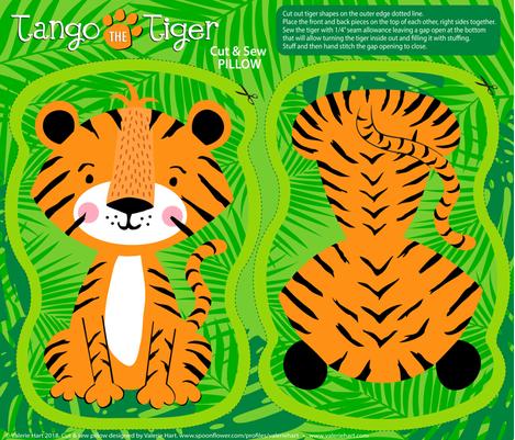 Tango the Tiger Cut & Sew Pattern fabric by valeriehart on Spoonflower - custom fabric