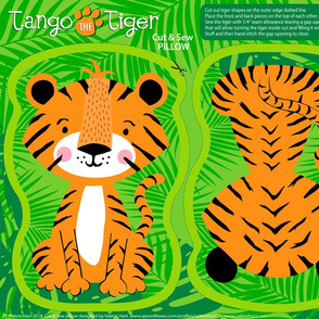 Tango the Tiger Cut & Sew Pattern