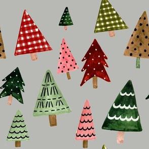 "8"" Holiday Pines // Gray Nickel"