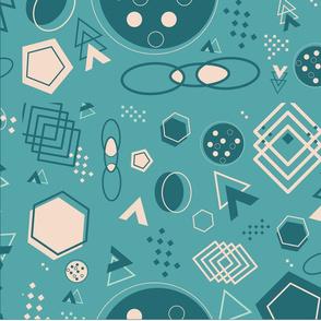 Monochromatic shapes pattern