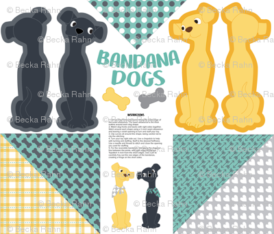Bandana Dogs Cut and Sew