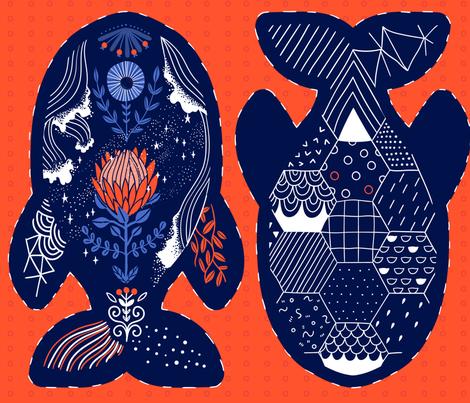 cutandsew-whale fabric by kostolom3000 on Spoonflower - custom fabric