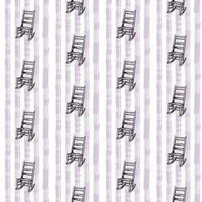 Rocking Chair Stripe in Lavender