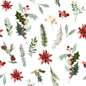 "8"" Festive Foliage // White"