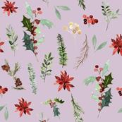 "8"" Festive Foliage // Maverick Lavender"