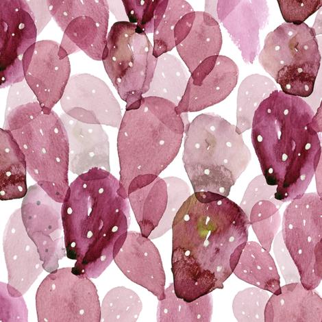 "12"" Cactus Cascade // Turkish Rose fabric by hipkiddesigns on Spoonflower - custom fabric"