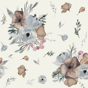 "8"" Winter Floral Blooms // Springwood"