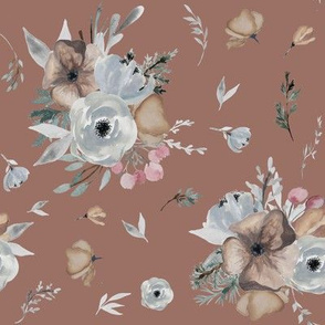 """8"""" Winter Floral Blooms // Toast"""