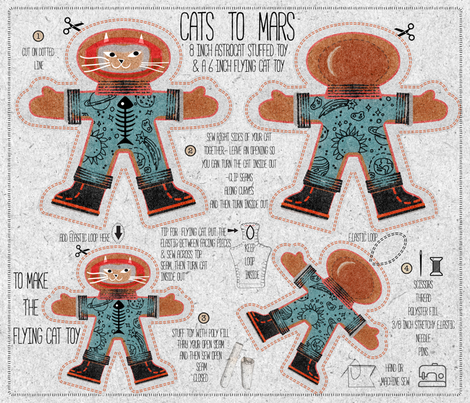 CATs To MARs fabric by chickoteria on Spoonflower - custom fabric