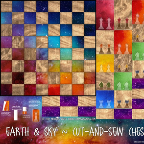 Earth & Sky - Chess Set - Cut-and-sew pattern