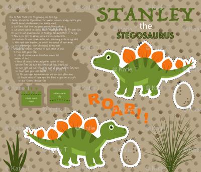 Stanley the Stegosaurus Fat Quarter