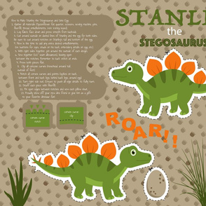 Stanley the Stegosaurus Fat Quarter