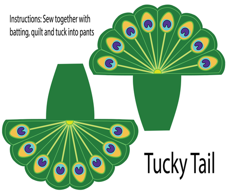 Tucky Tail Peacock fabric by priebco on Spoonflower - custom fabric