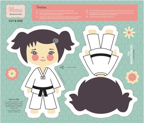Cut & Sew Pillow_Martial Artist fabric by diannemehta on Spoonflower - custom fabric