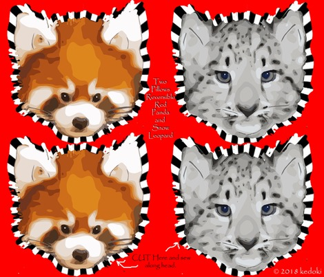 Rtwo-pillows-one-side-snow-leopard-other-side-red-panda-by-kedoki_contest216938preview