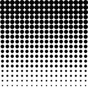 black and white halftone