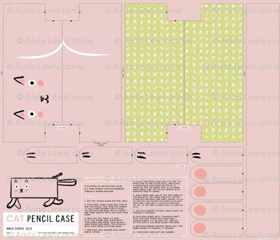 Rectangle Cat Pencil Case